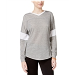 Jessica Simpson Womens Heathered Warm-Up Sweatshirt