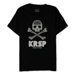 KRSP. Mens 3d Skull And Crossbones Graphic T-Shirt