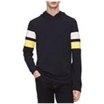 Calvin Klein Mens Striped Sleeve Hoodie Sweatshirt
