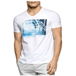 Calvin Klein Mens Sublimated Logo Graphic T-Shirt