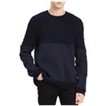 Calvin Klein Mens Mixed Media Pullover Sweater