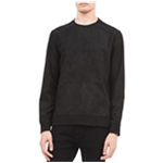 Calvin Klein Mens Faux Suede Sweatshirt