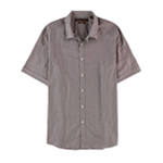Perry Ellis Mens Slim Fit Mini Check Button Up Shirt