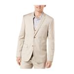 Perry Ellis Mens Textured Herringbone Two Button Blazer Jacket