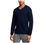 DKNY Mens Textured V-Neck Pullover Sweater