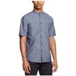 DKNY Mens Wove Button Up Shirt