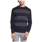 DKNY Mens Slim Stripe Pullover Sweater