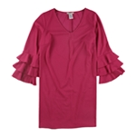 Love Squared Womens Tiered A-line Cocktail Dress
