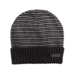 Kenneth Cole Mens Stripe Cuff Beanie Hat