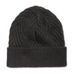 Ryan Seacrest Distinction Mens Herringbone Knit Beanie Hat