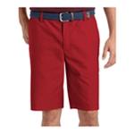 IZOD Mens Flat Front Casual Chino Shorts