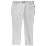 Charter Club Womens Belted Tummy-Control Casual Trousers