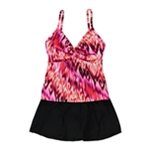 MiracleSuit Womens IKAT Print Skirted 2 Piece Tankini