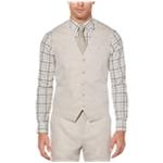 Perry Ellis Mens Linen Five Button Vest