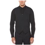 Perry Ellis Mens Slim-Fit Subtle-Pinstripe Five Button Vest