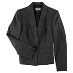 Le Suit Womens Melange One Button Blazer Jacket