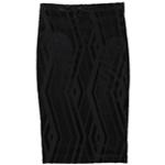 bar III Womens Burnout Pencil Skirt