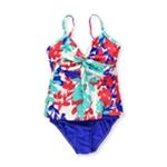 Swim Solutions Womens Tahiti Twist Brief 2 Piece Tankini