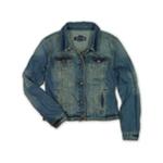 Ecko Unltd. Womens Button Front Jean Jacket
