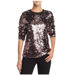 McQ Womens Sequined Pullover Blouse