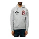 Black Scale Mens The Saint Varsity Zip Up Hoodie Sweatshirt