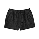 First Impressions Girls Textured Eyelet Casual Walking Shorts