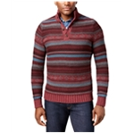 G.H. Bass & Co. Mens Striped 3-Button Pullover Sweater