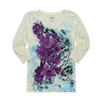 Style&co. Womens Rhinestone Flower Graphic T-Shirt