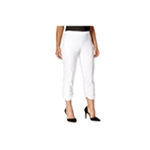 Style&co. Womens Ruched Cropped Skinny Casual Trousers