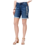 Style&co. Womens Embroidered Casual Denim Shorts