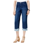 Style&co. Womens Dyed-Hem Cropped Jeans