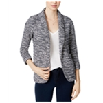 maison Jules Womens Textured Blazer Jacket