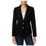 maison Jules Womens Textued Two Button Blazer Jacket