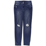 Thalia Sodi Womens Ripped Skinny Fit Jeans
