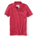 Aeropostale Mens Pigeon Contrast-placket Pique Rugby Polo Shirt