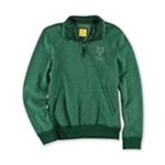 Aeropostale Mens 1/4 Zip Logo Sweatshirt