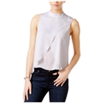 bar III Womens Tulip-Front Pullover Blouse