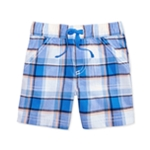 First Impressions Boys Plaid Casual Walking Shorts