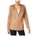 JM Collection Womens Laser Cut-Out Blazer Jacket