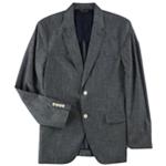 Tasso Elba Mens Chambray Two Button Blazer Jacket