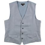 Tasso Elba Mens Linen Four Button Vest
