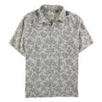 Tasso Elba Mens Leaf Print SS Button Up Shirt