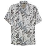 Tasso Elba Mens Floral-Print Button Up Shirt