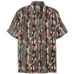Tasso Elba Mens Linen Floral Button Up Shirt