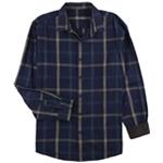 Tasso Elba Mens Grid Button Up Shirt