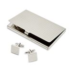 the Gift Mens Card Case Square Shape Cufflinks