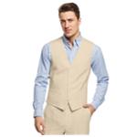 I-N-C Mens Smith Linen Blend Five Button Vest