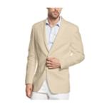 I-N-C Mens Smith Linen Two Button Blazer Jacket