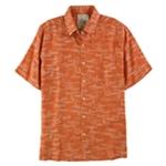 Tasso Elba Mens Fish Print Button Up Shirt