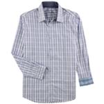 Tasso Elba Mens Grid Button Up Dress Shirt